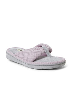 Addison Textured Terry Thong Slippers,