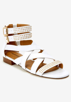 The Cambria Sandal by Comfortview®, WHITE