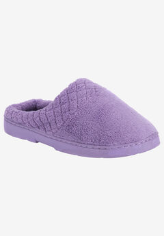 Micro Chenille Slipper Clogs by Muk Luks®, LAVENDER, hi-res