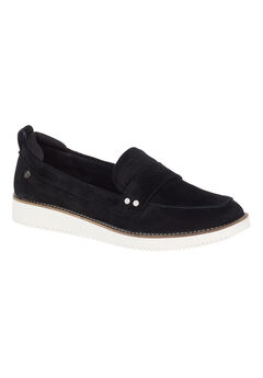 Chowchow Loafers by Hush Puppies®, BLACK SUEDE, hi-res