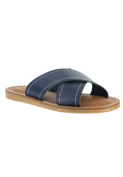 Evelina Sandals by Easy Street®, NAVY, hi-res