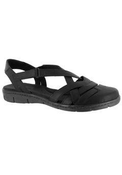 Garrett Sandals by Easy Street®, BLACK, hi-res