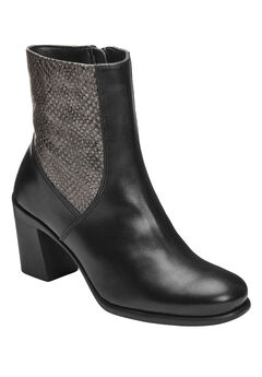 Hole Of Fame Booties by Aerosoles®, BLACK LEATHER, hi-res