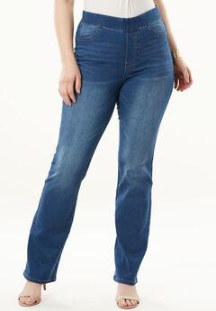 The No-Gap Slim Bootcut Jean by Denim 24/7®,