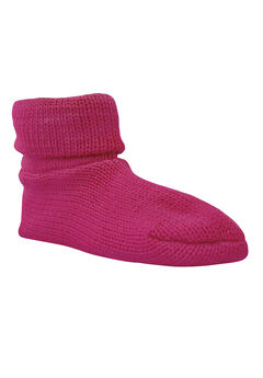 Cuff Slipper Sock by Muk Luks®, FUCHSIA, hi-res