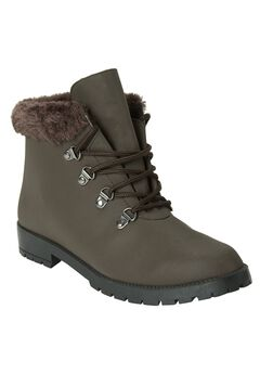 Vylon Hiker All-Weather Bootie by Comfortview, BROWN, hi-res