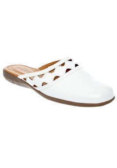 McKenna Mules by Comfortview®, WHITE, hi-res