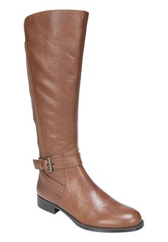 Jelina Wide Calf Boots by Naturalizer®, BANANA BREAD, hi-res