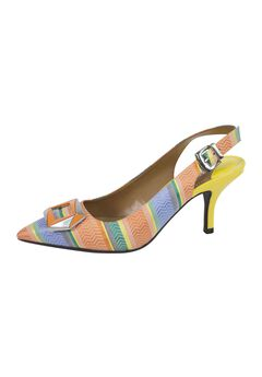 Lloret Pumps by J.Renee®, ORANGE BLUE GREEN, hi-res