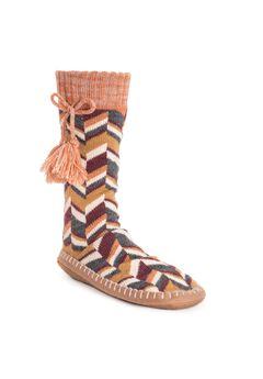 Slipper Socks with Tassels by Muk Luks,