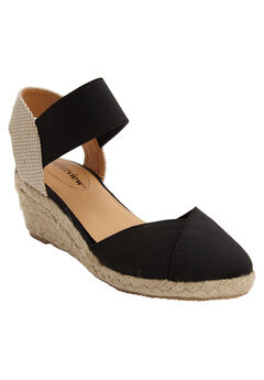 Abra Espadrille by Comfortview®, BLACK