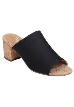 Mid Level Sandal by Aerosoles®, BLACK FABRIC, hi-res
