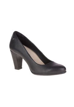 Minam Meaghan Pumps by Hush Puppies®, BLACK LEATHER, hi-res
