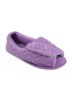 Micro Chenille Adjustable Slipper by Muk Luks®, LAVENDER, hi-res