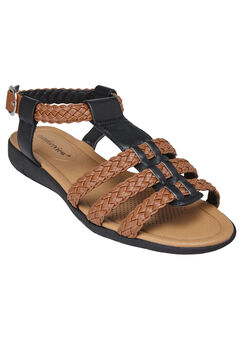 Rylie Sandals by Comfortview®, BLACK, hi-res
