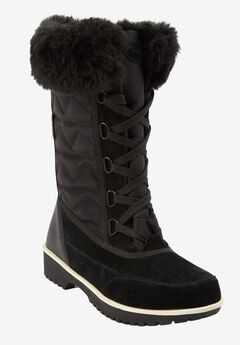 Comfortview® 'Eileen' Waterproof Wide Calf Boot, BLACK, hi-res