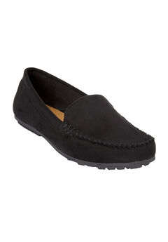 The Milena Moccasin by Comfortview®, BLACK, hi-res
