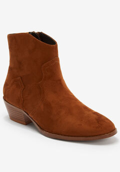 The Lacy Bootie by Comfortview®, COGNAC