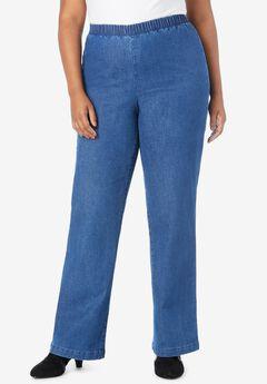 Wide-Leg Pull-On Stretch Jean by Denim 24/7®,