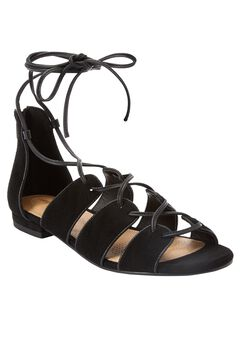 Wexi Sandals by Comfortview®, BLACK, hi-res
