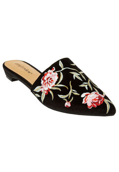 The Marley Mule by Comfortview®, BLACK VELVET EMBROIDERY, hi-res