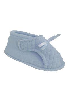 Micro Chenille Adjustable Slipper by Muk Luks®, BLUE, hi-res