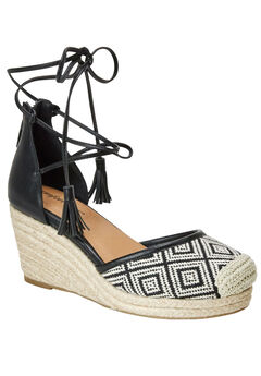 Ryann Espadrilles by Comfortview®, BLACK NATURAL, hi-res