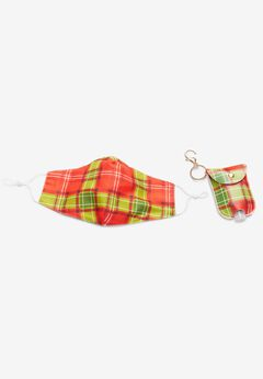 Two-Layer Reusable Cotton Face Mask and Sanitizer Set,