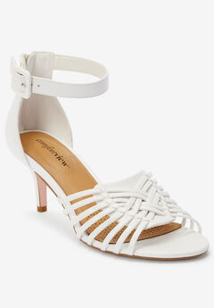 The Ivy Sandal by Comfortview®, WHITE