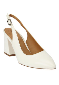 The Liberty Slingback Pump by Comfortview®, WHITE