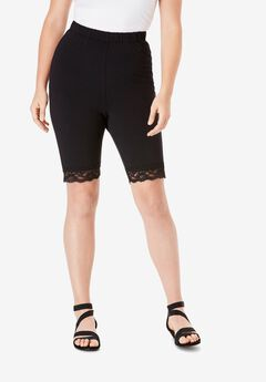 Essential Stretch Lace-Trim Short,