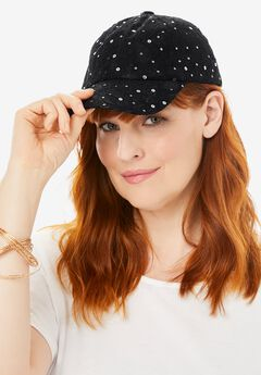Sequin Lace Baseball Cap,