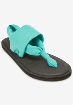 The Leni Soft Footbed Sandal by Comfortview®, CARIBBEAN BLUE