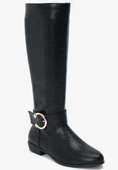 The Blakely Wide Calf Boot by Comfortview®, BLACK