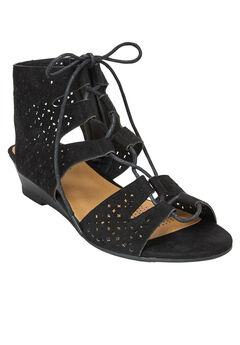 Raelyn Sandals by Comfortview®, BLACK, hi-res