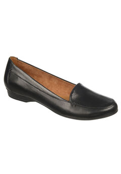 Saban Flats by Naturalizer®, BLACK LEATHER, hi-res