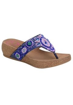 Sade Sandals by Comfortiva®, NAVY, hi-res