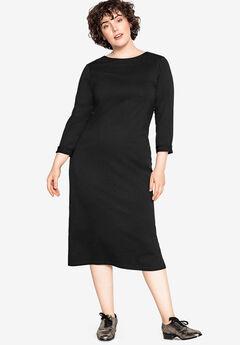 Tie-Back Midi Knit Dress Castaluna by La Redoute,