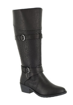 Kelsa Boots by Easy Street®, BLACK E, hi-res