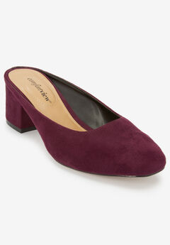 Judy Mules by Comfortview®, DARK BERRY