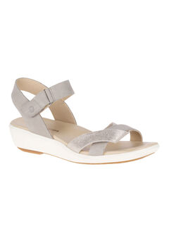 Lyricale Qtr Strap Sandals by Hush Puppies®, ICE GREY NUBUCK, hi-res