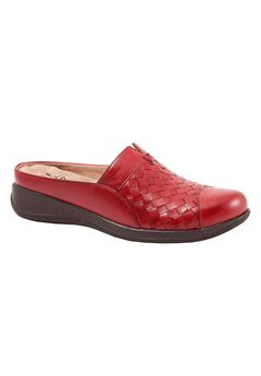 San Marcos Woven Mule by SoftWalk®, RED, hi-res