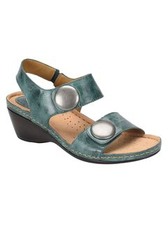 Pamela Leather Wedge Sandal by Softspots®,