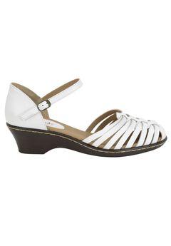 Tatianna Leather Sandal by Softspots®, WHITE, hi-res