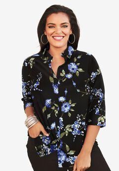 Three-Quarter Sleeve Kate Shirt,