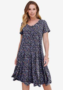 Ultrasmooth® V-Neck Swing Dress,