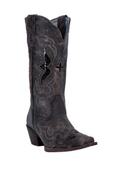 Lucretia Wide Calf Boots by Laredo, BLACK TAN, hi-res
