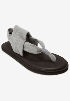 The Leni Soft Footbed Sandal by Comfortview®, METALLIC GREY