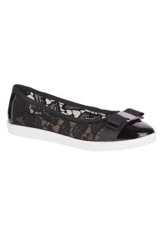 Fagan Flats by Soft Style®, BLACK MESH PATENT, hi-res