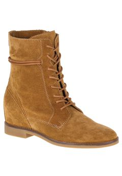 Bab Felise Wide Calf Boots by Hush Puppies®, CAMEL SUEDE, hi-res